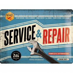 Tablica Retro Metalowa - Service & Repair
